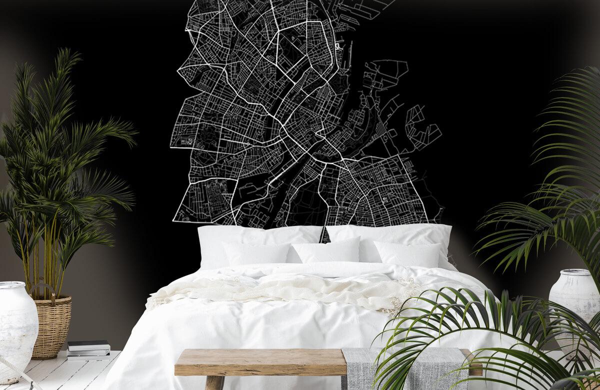 Kaarten - Plattegrond van Kopenhagen, zwart - Kantoor 6