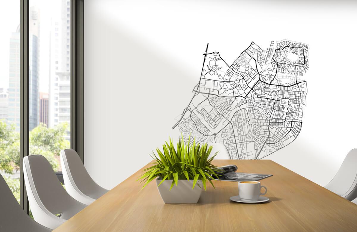 Kaarten - Plattegrond van Leiden, wit - Vergaderruimte 2
