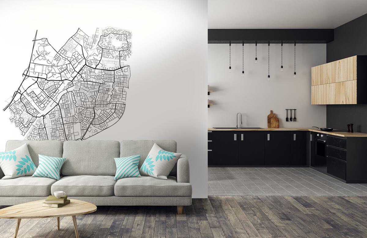 Kaarten - Plattegrond van Leiden, wit - Vergaderruimte 5