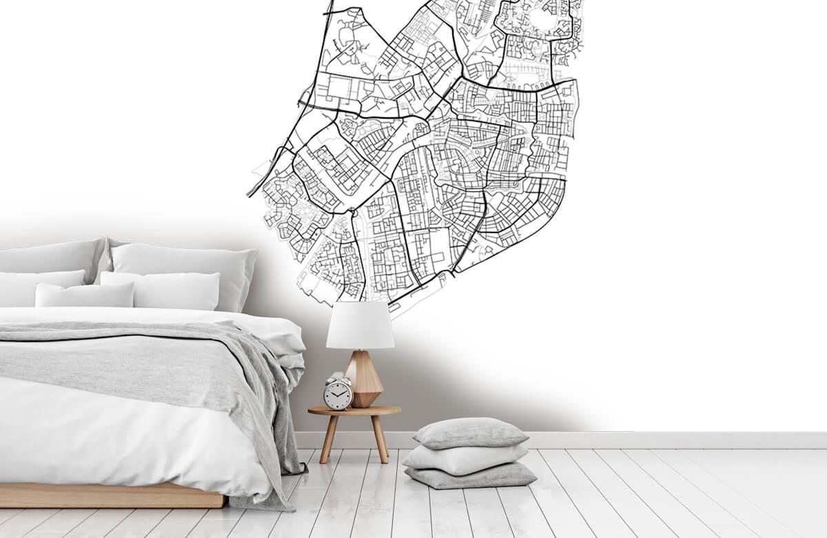 Kaarten - Plattegrond van Leiden, wit - Vergaderruimte 7