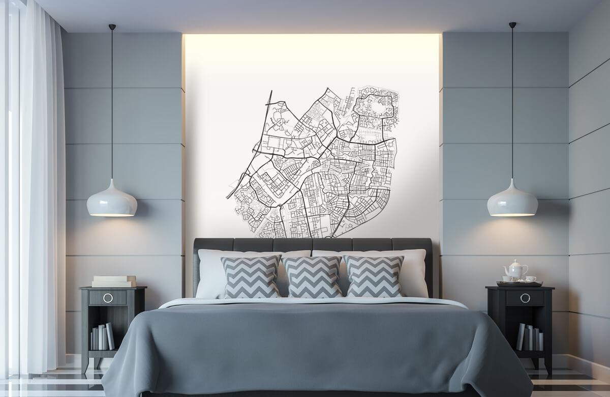 Kaarten - Plattegrond van Leiden, wit - Vergaderruimte 8