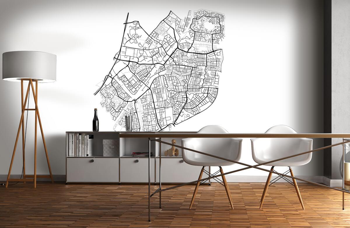 Kaarten - Plattegrond van Leiden, wit - Vergaderruimte 11