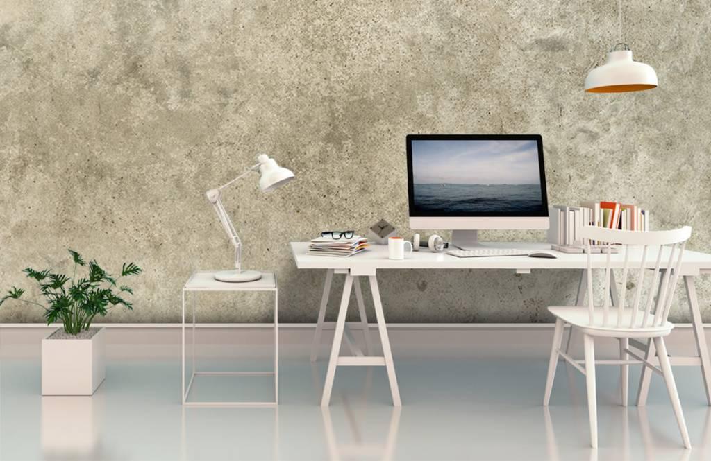 Betonlook behang - Lichtgrijs gepolijst beton - Woonkamer 3