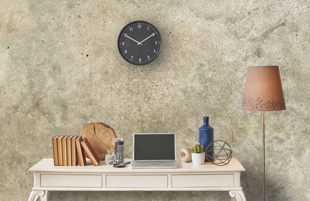 Betonlook behang - Lichtgrijs gepolijst beton - Woonkamer 5