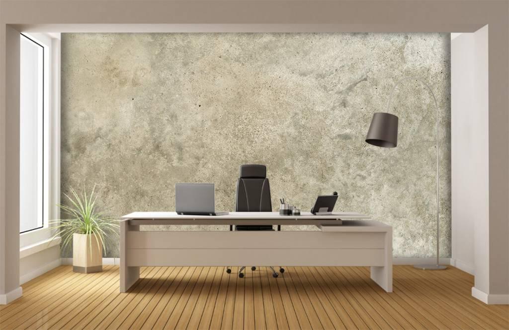 Betonlook behang - Lichtgrijs gepolijst beton - Woonkamer 6