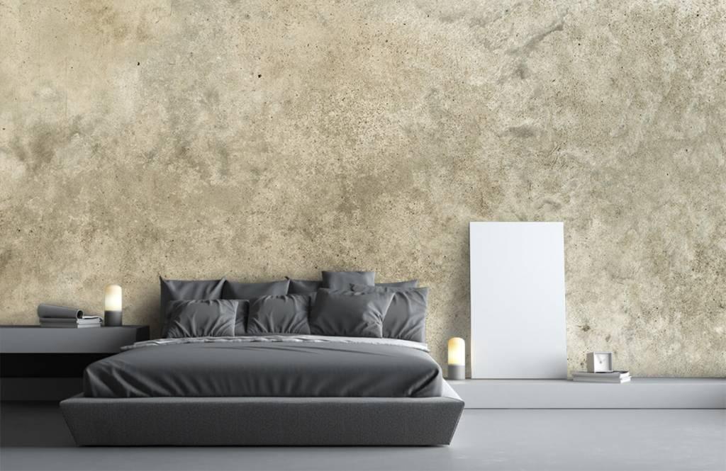 Betonlook behang - Lichtgrijs gepolijst beton - Woonkamer 8