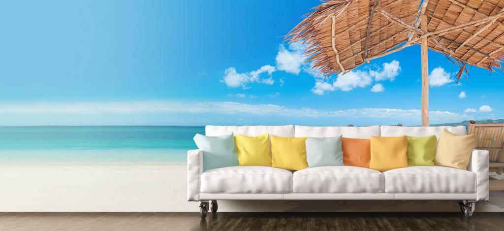 Stranden - Ligstoelen op het strand - Woonkamer 1