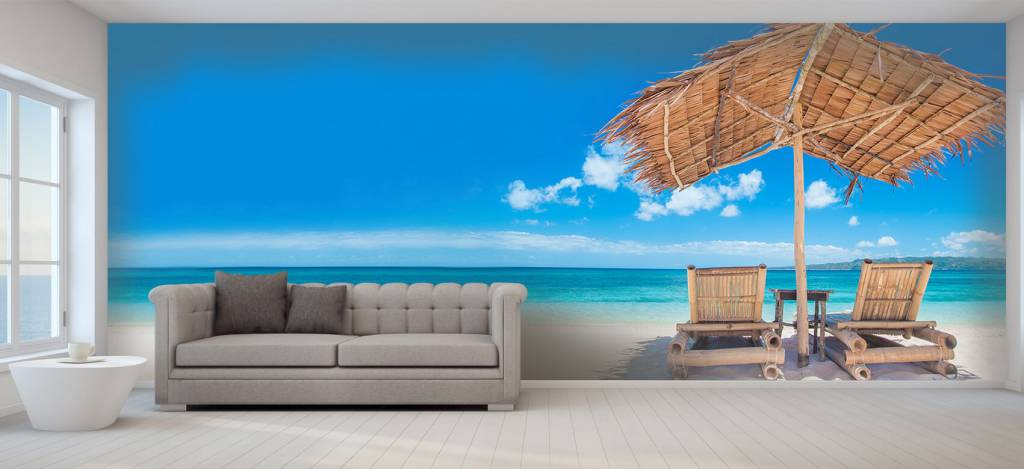 Stranden - Ligstoelen op het strand - Woonkamer 6