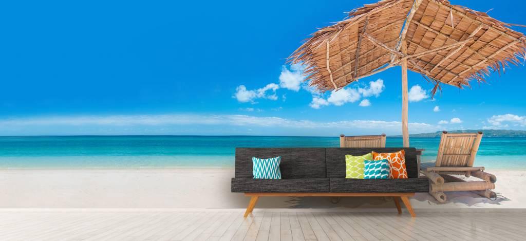 Stranden - Ligstoelen op het strand - Woonkamer 7