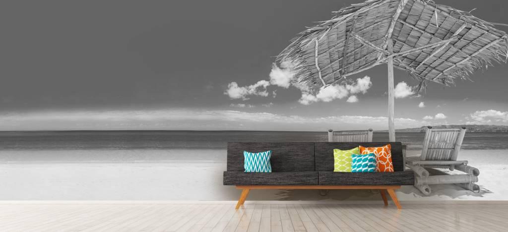 Stranden - Ligstoelen op het strand - Woonkamer 8