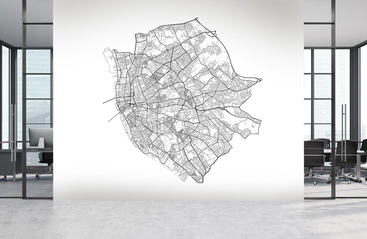 Kaarten - Plattegrond van Liverpool, wit - Kantine 3