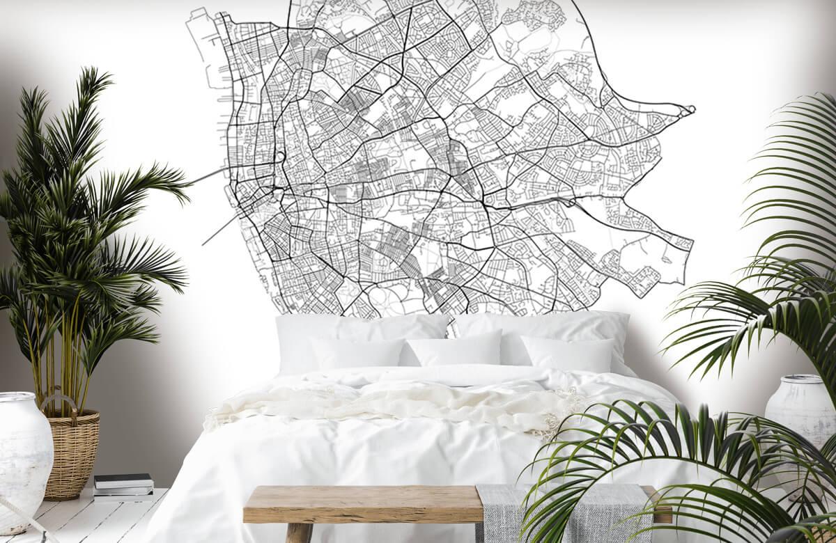 Kaarten - Plattegrond van Liverpool, wit - Kantine 6