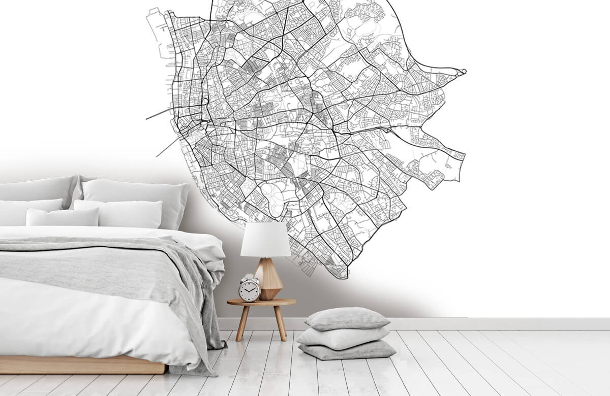 Kaarten - Plattegrond van Liverpool, wit - Kantine 7