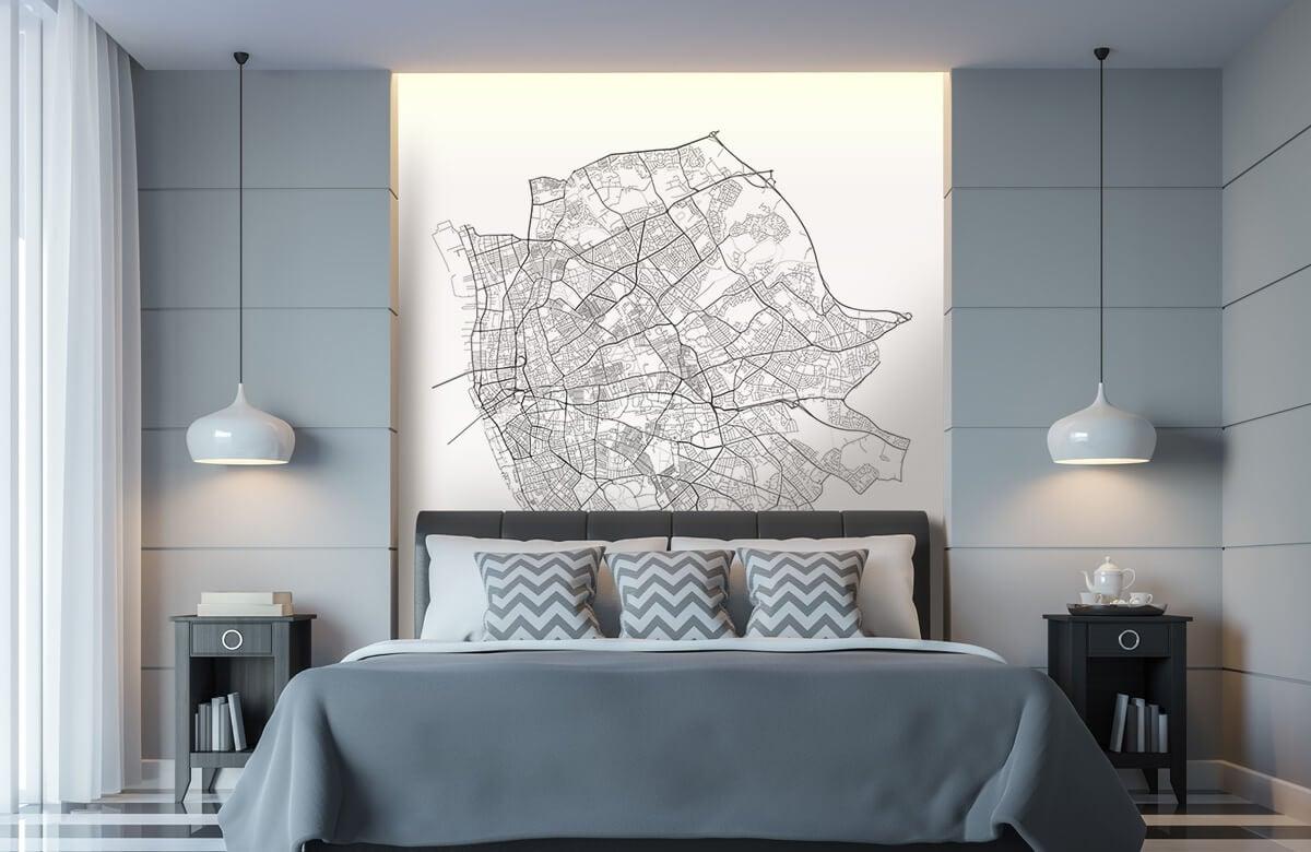 Kaarten - Plattegrond van Liverpool, wit - Kantine 8