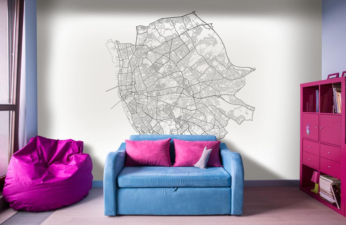 Kaarten - Plattegrond van Liverpool, wit - Kantine 10
