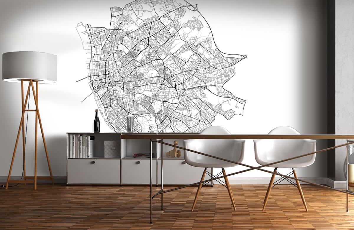 Kaarten - Plattegrond van Liverpool, wit - Kantine 11