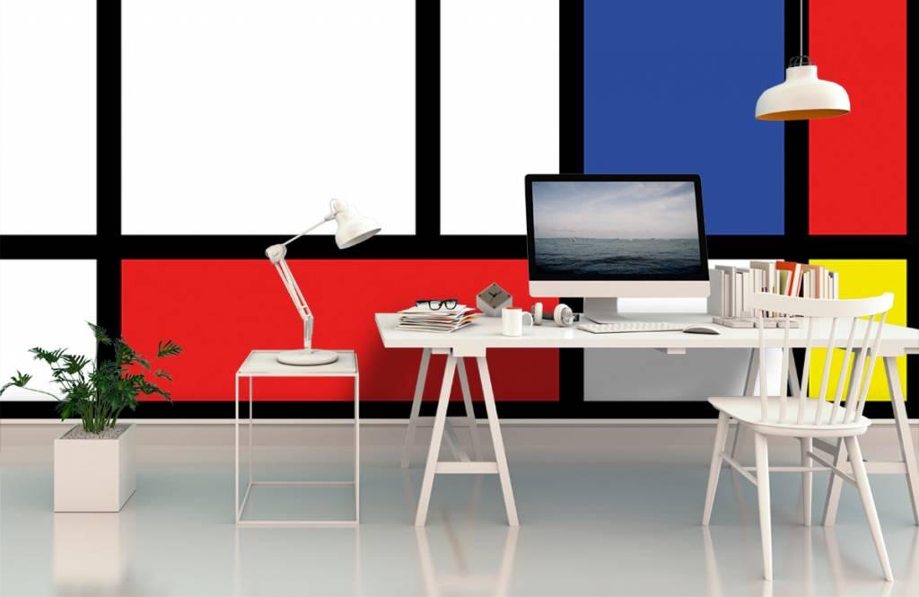 Abstract behang - Mondriaan - Hobbykamer 2