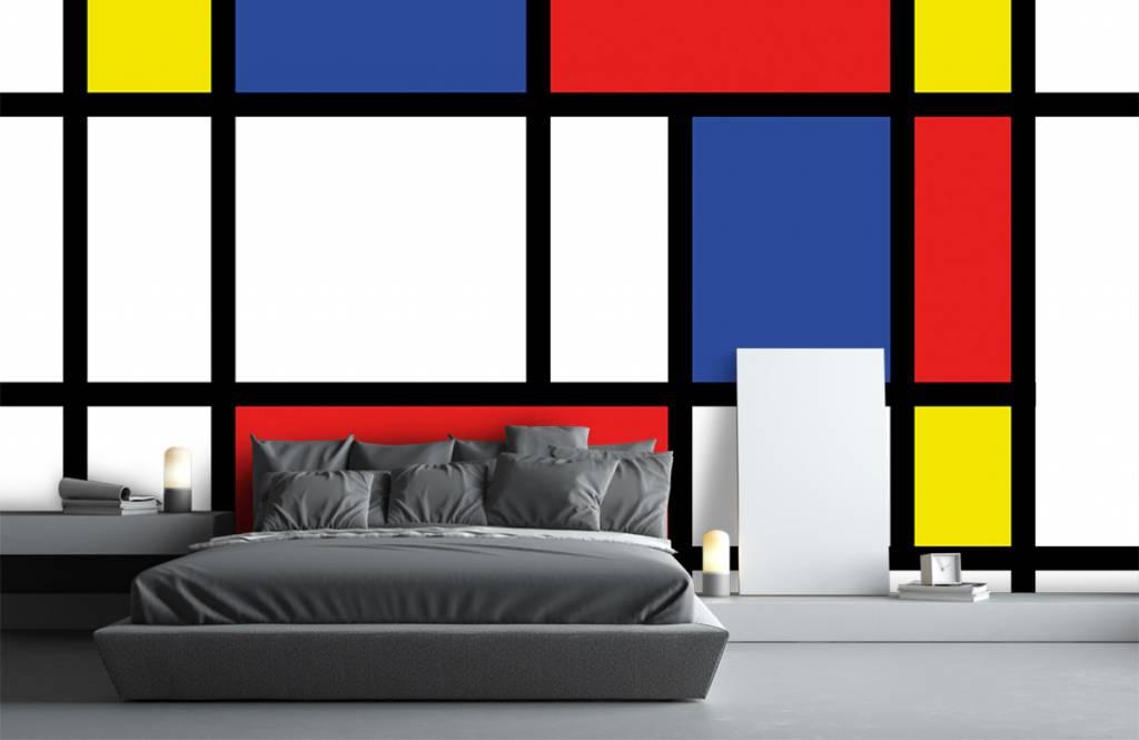 Abstract behang - Mondriaan - Hobbykamer 5