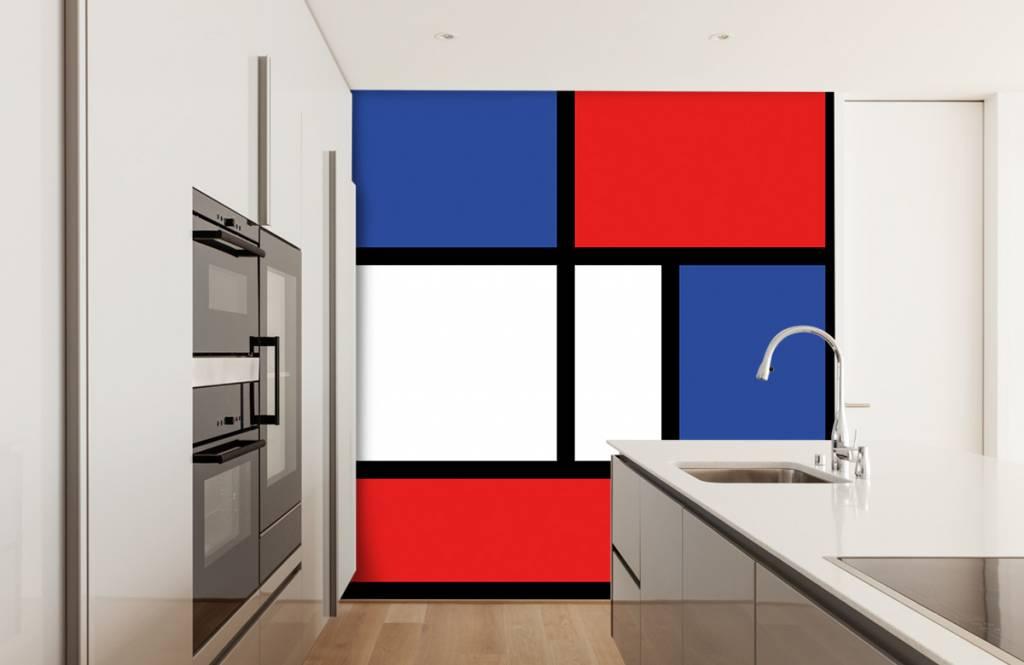 Abstract behang - Mondriaan - Hobbykamer 6