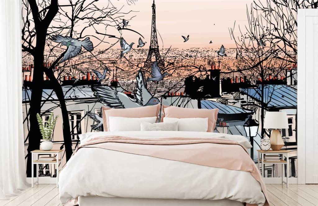Modern behang - Montmartre in Parijs - Slaapkamer 1