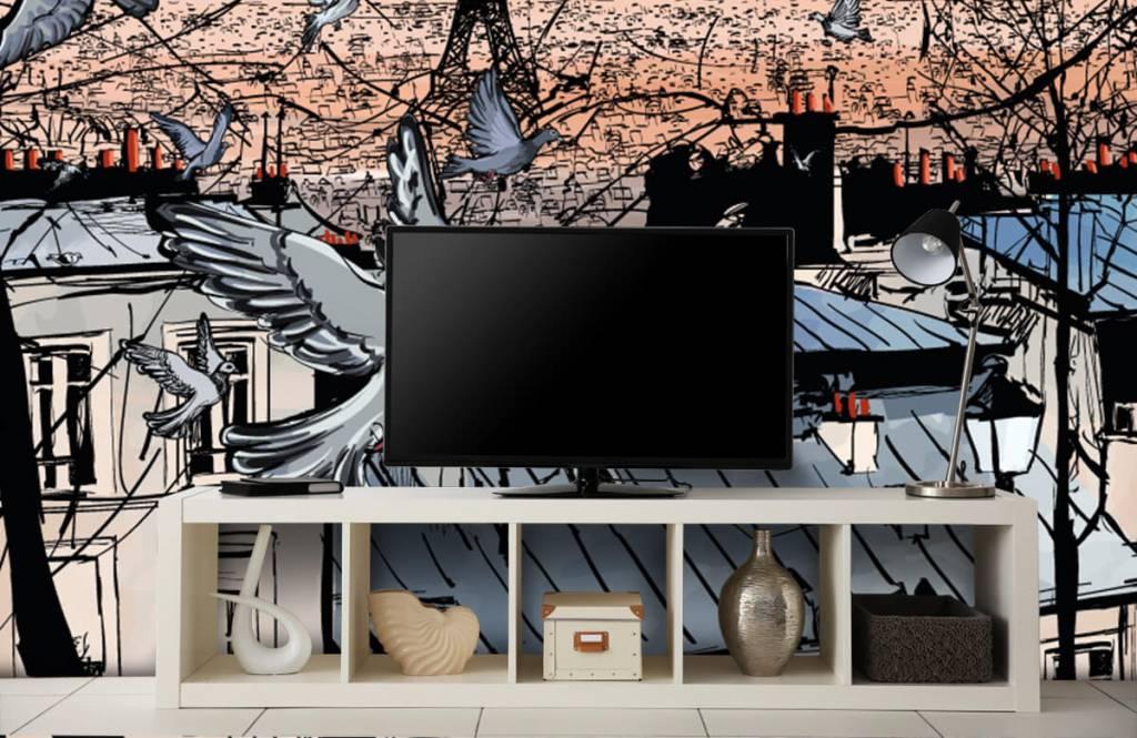 Modern behang - Montmartre in Parijs - Slaapkamer 4