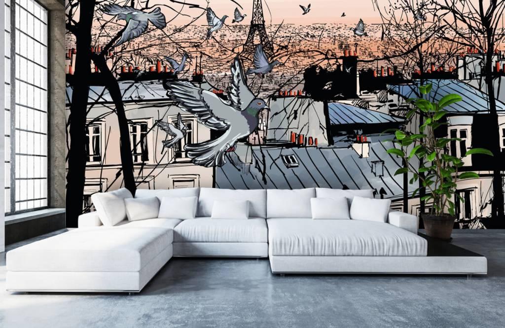 Modern behang - Montmartre in Parijs - Slaapkamer 5