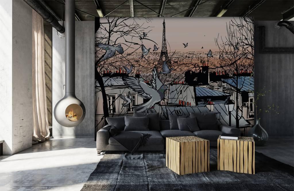 Modern behang - Montmartre in Parijs - Slaapkamer 6