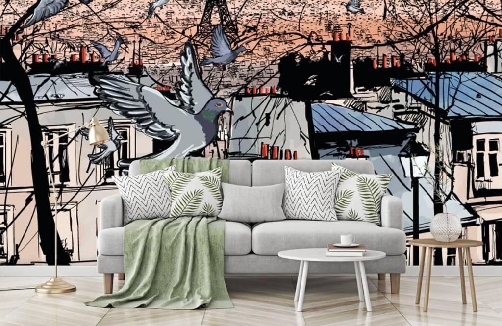 Modern behang - Montmartre in Parijs - Slaapkamer 7