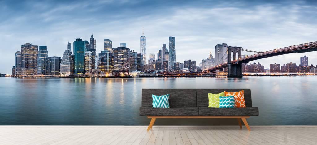 Skylines - New York City zonsondergang - Ontvangstruimte 1