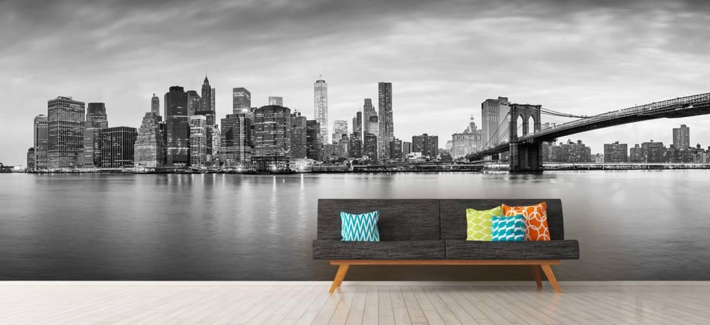 Skylines - New York City zonsondergang - Ontvangstruimte 2