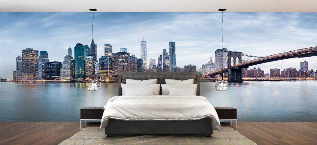 Skylines - New York City zonsondergang - Ontvangstruimte 3