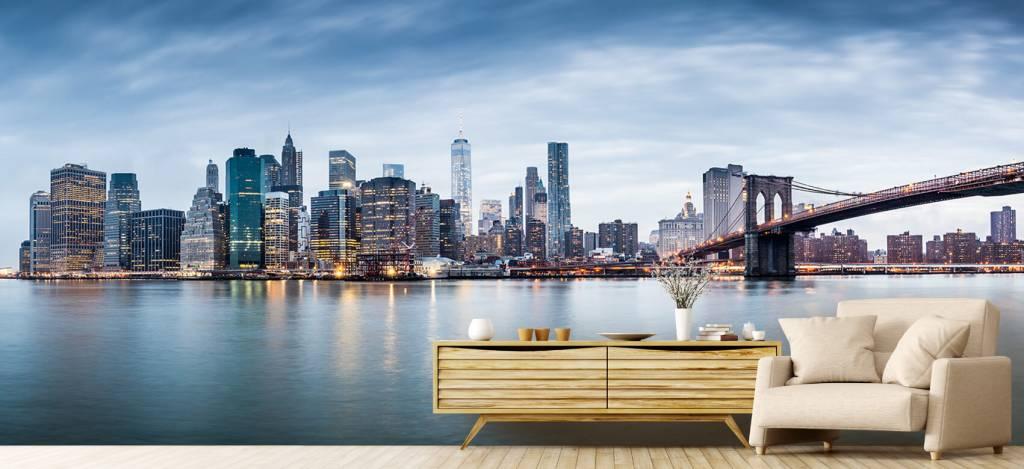 Skylines - New York City zonsondergang - Ontvangstruimte 6