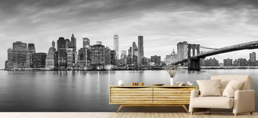 Skylines - New York City zonsondergang - Ontvangstruimte 7