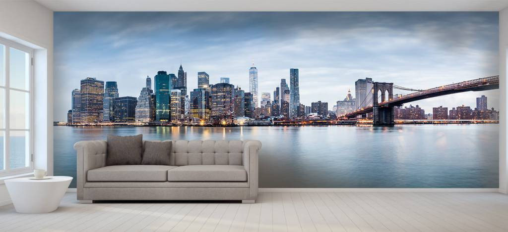 Skylines - New York City zonsondergang - Ontvangstruimte 8