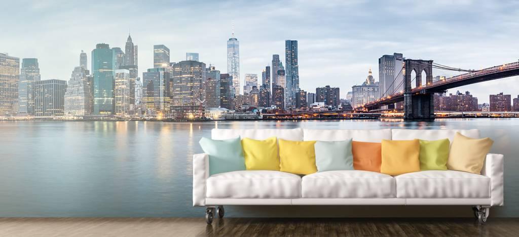 Skylines - New York City zonsondergang - Ontvangstruimte 9