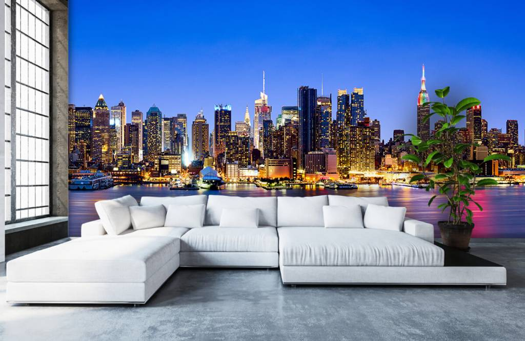 Skylines - New York Manhattan Skyline - Computerruimte 1