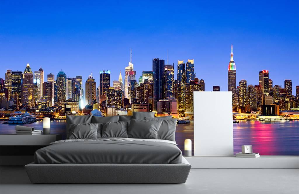 Skylines - New York Manhattan Skyline - Computerruimte 2