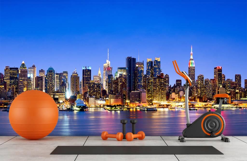 Skylines - New York Manhattan Skyline - Computerruimte 3
