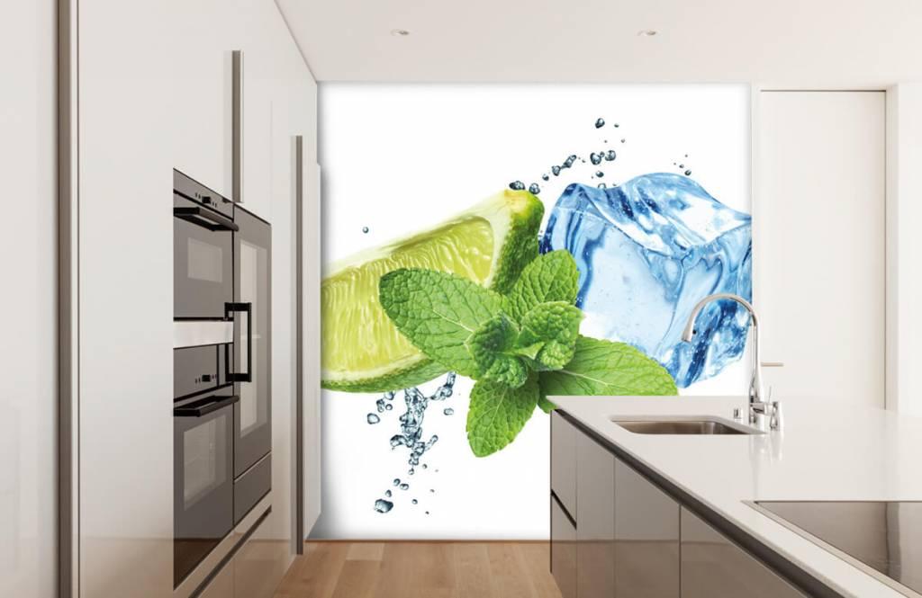 Fruit - Opspattend water met munt en limoen - Kantine 1
