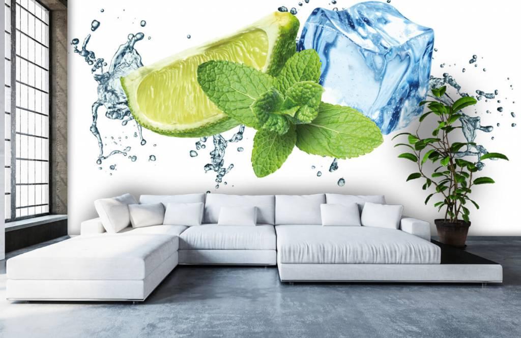 Fruit - Opspattend water met munt en limoen - Kantine 2