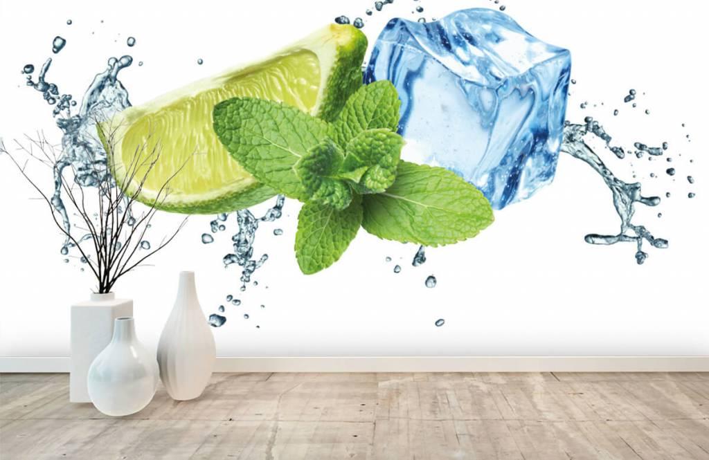 Fruit - Opspattend water met munt en limoen - Kantine 3