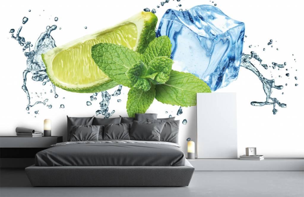 Fruit - Opspattend water met munt en limoen - Kantine 4