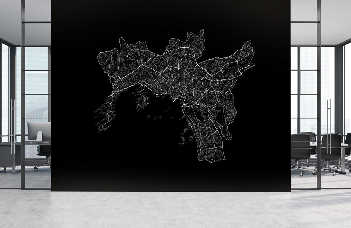 Kaarten - Plattegrond van Oslo, zwart - Showroom 3