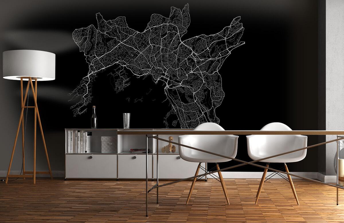 Kaarten - Plattegrond van Oslo, zwart - Showroom 11