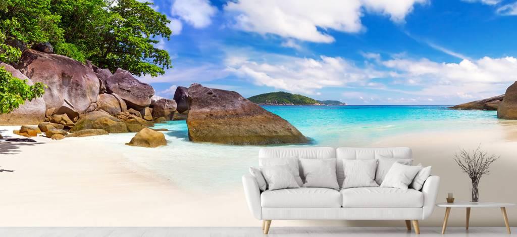 Stranden - Panorama foto van een tropisch strand - Kantine 1