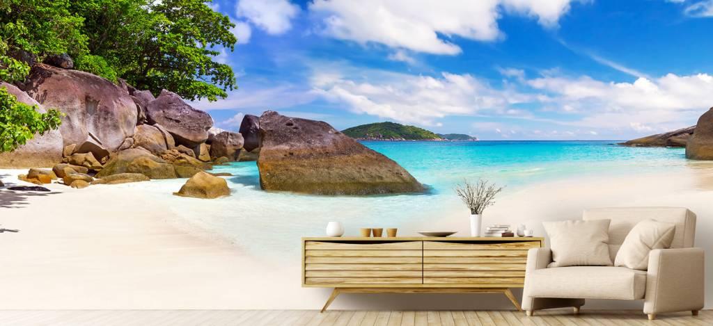 Stranden - Panorama foto van een tropisch strand - Kantine 3