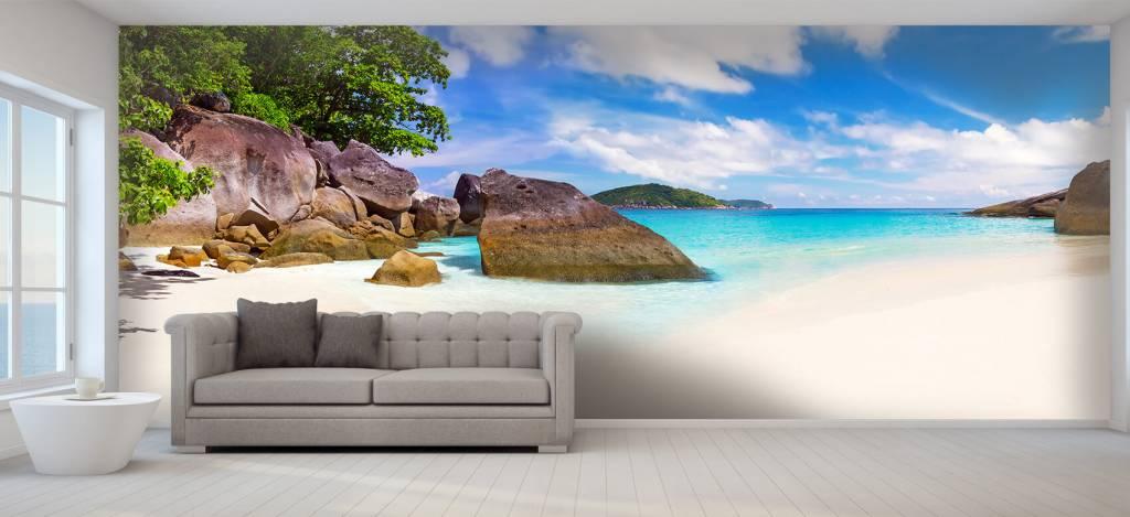 Stranden - Panorama foto van een tropisch strand - Kantine 4