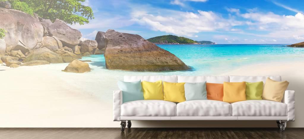 Stranden - Panorama foto van een tropisch strand - Kantine 5