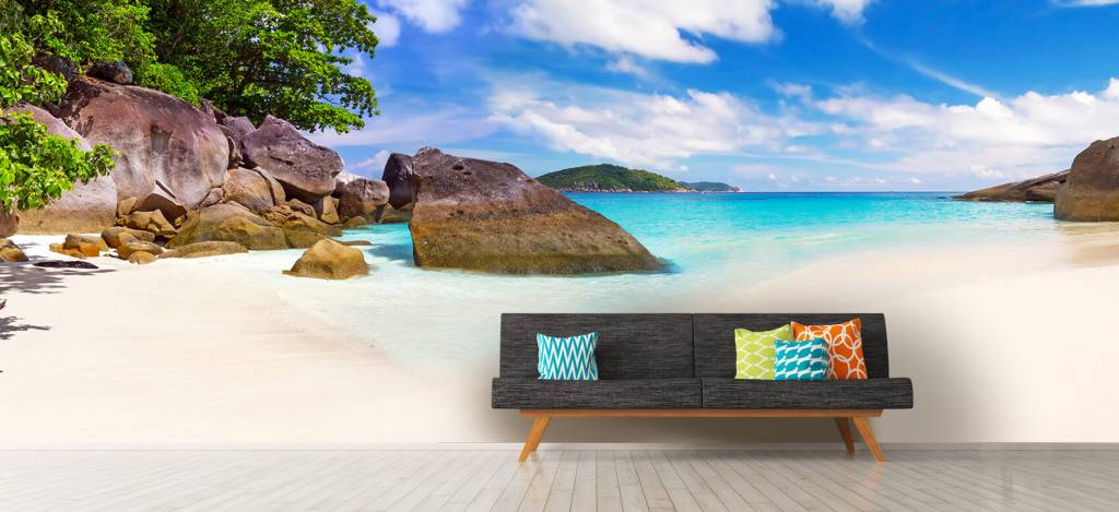Stranden - Panorama foto van een tropisch strand - Kantine 7