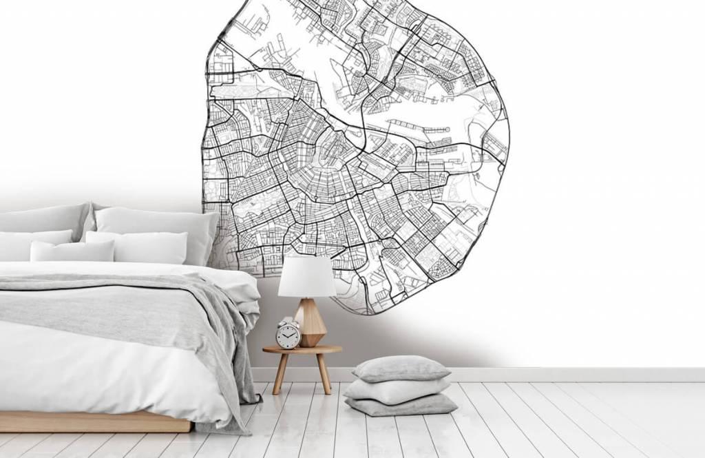 Kaarten - Plattegrond van Amsterdam, wit - Garage 1